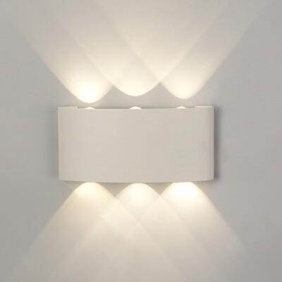 Arcs Wall Lamp, 6W LED, 3000K, 450lm, IP54, Sand White