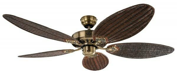 Classic Royal 132 MA wicker ceiling fan by CASAFAN Ø132cm with Pull Chain