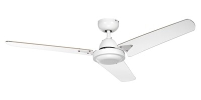 ELENA 3 white ceiling fan by ROSSINI Ø122 Wall control included