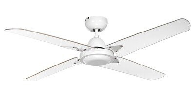 ELENA 4 white ceiling fan by ROSSINI Ø122 Wall control included
