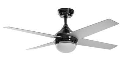MELTEMI grey ceiling fan by ROSSINI Ø 122 light integrated and remote control included