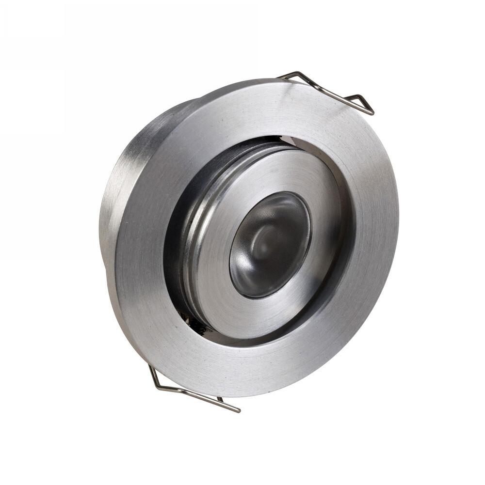 Brevis A, 3W, 150lm Brushed Aluminium Recessed Spotlight 20° Tiltable