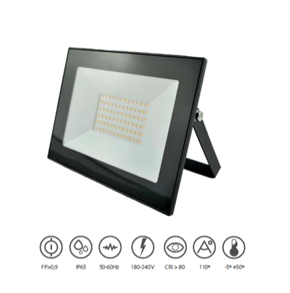 Outdoor PROJECTOR LED 50W ECO BLACK 4200K