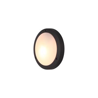 Daru Plain Outdoor Bulkhead Ceiling/Wall Lamp, 1 x E27, Anthracite, IP54