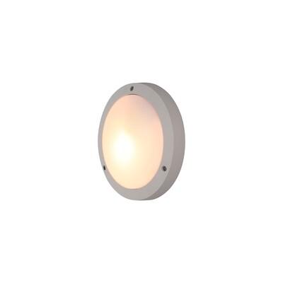 Daru Plain Outdoor Bulkhead Ceiling/Wall Lamp, 1 x E27, Sand White, IP54