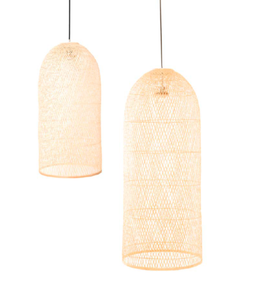 CAP braided bamboo pendant