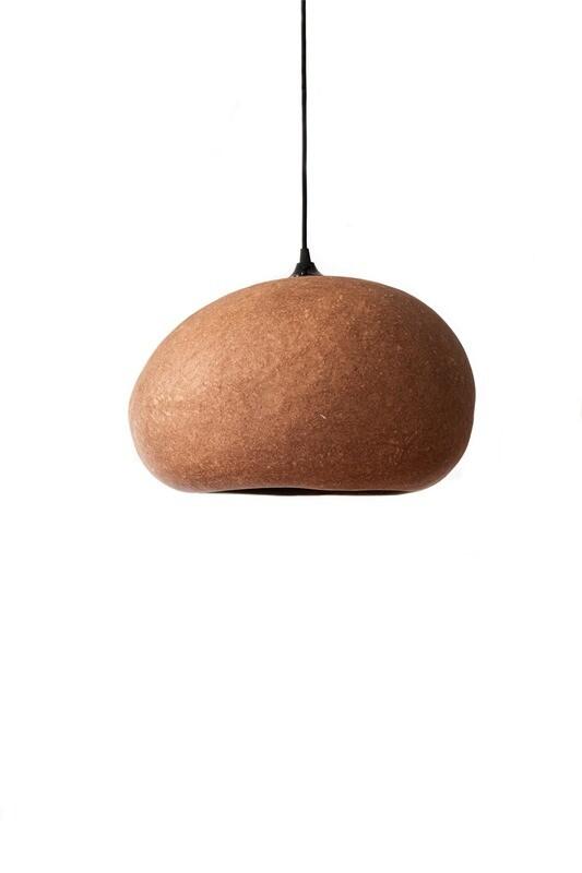 Pebble terracotta pendant