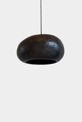 Pebble black pendant
