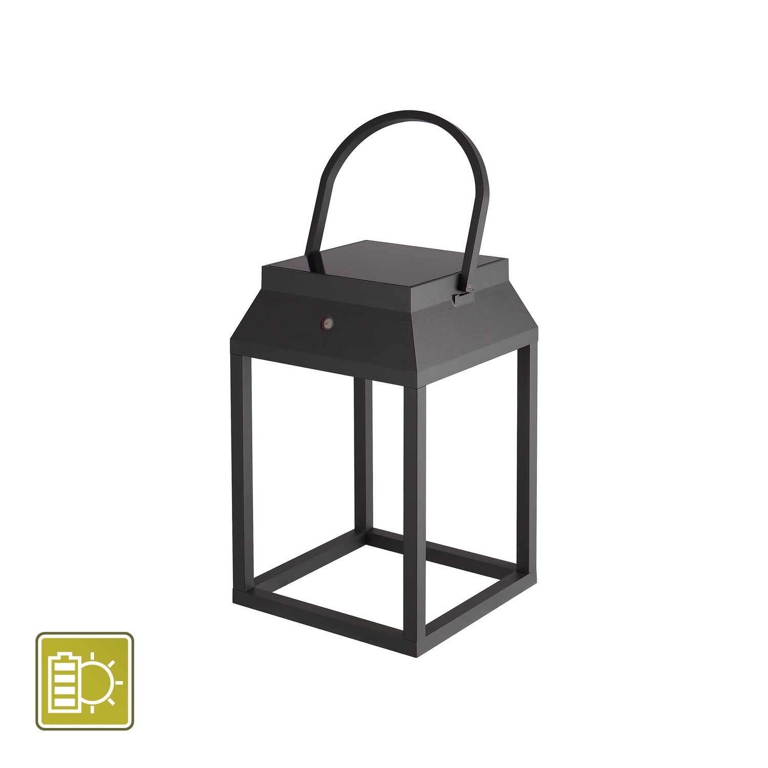 Sapporo Small Solar Portable Lantern, 3W LED, 3000K, 238lm, IP54, Graphite