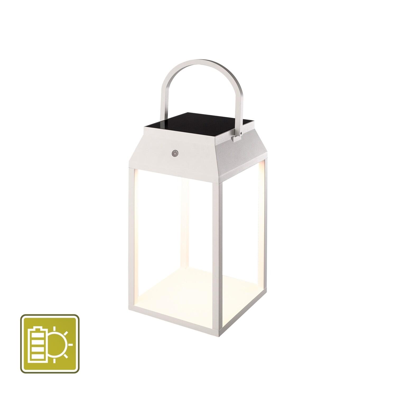 Sapporo Large Solar Portable Lantern, 3W LED, 3000K, 238lm, IP54, White