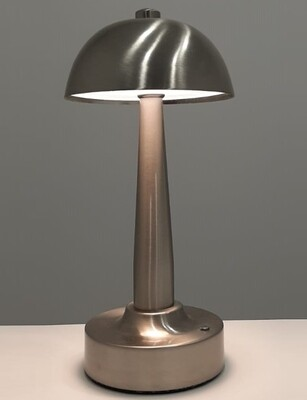 Deck portable Table Lamp, 4W LED, 4000K, 400lm, IP44, Nickel