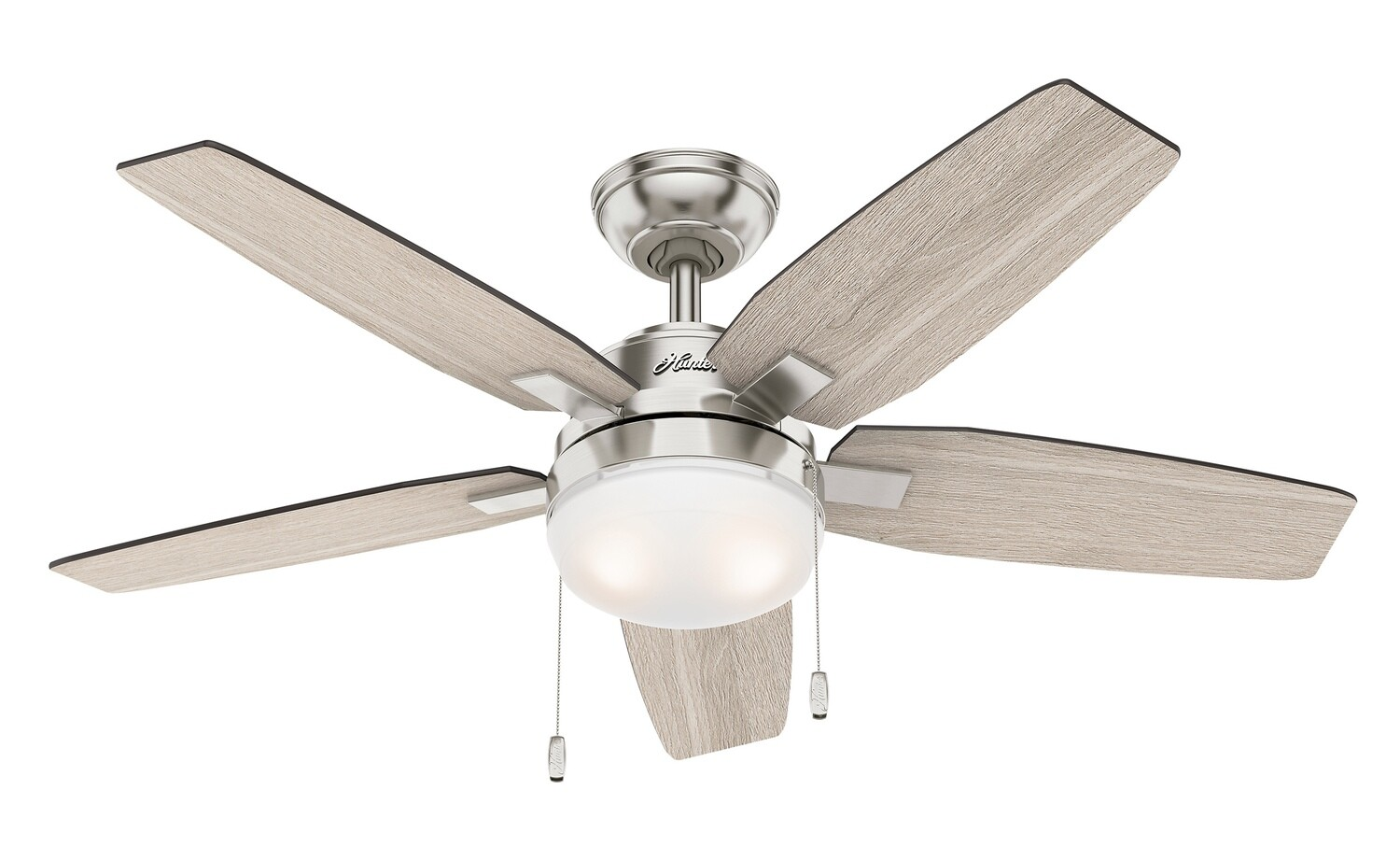 HUNTER ARCOT BN celing fan with light Ø117cm with Pull Chain