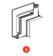 kush lighting system linear track 24V accessory trimless vertical internal corner