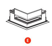 kush lighting system linear track 24V accessory trimless horizontal corner
