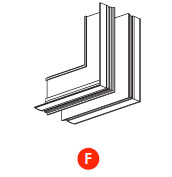 kush lighting system linear track 24V accessory trimless vertical external corner