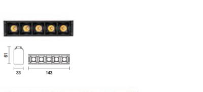 kush lighting system linear dark 11W 3000K