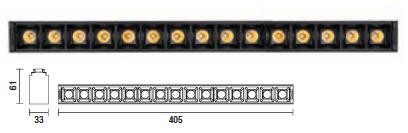 kush lighting system linear dark 33W 3000K