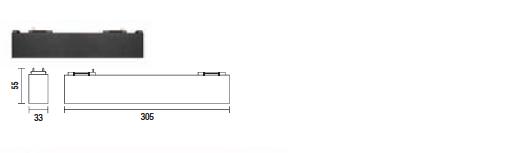kush lighting system linear blade 9W 3000K