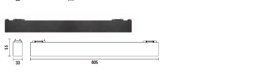 kush lighting system linear blade 18W 3000K