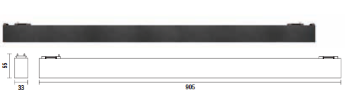 kush lighting system linear blade 27W 3000K