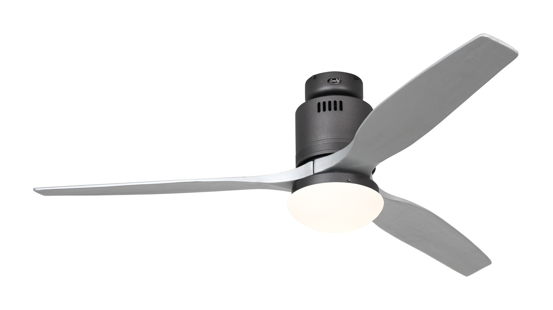 AERODYNAMIX ECO BG energy saving ceiling fan by CASAFAN Ø132  with light kit and remote control included - Basalt Grey /Silver grey