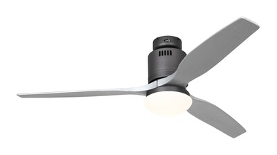 AERODYNAMIX ECO BG energy saving ceiling fan by CASAFAN Ø132  with light kit and remote control included - Basalt Grey /Silver grey