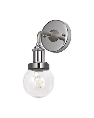Juliet Wall Lamp 1 Light E27 IP65 Exterior Titanium Silver/Polished Chrome