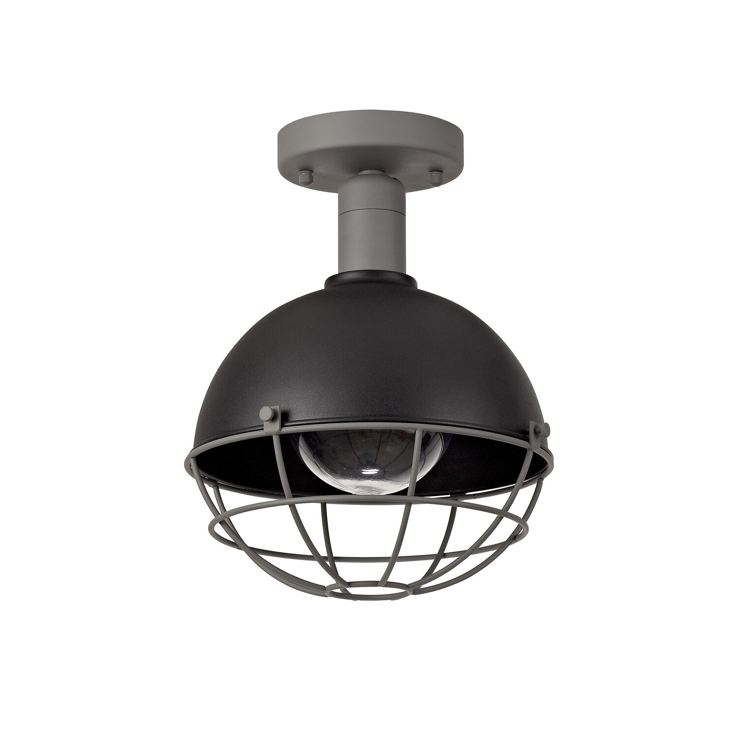 Rami Ceiling, 1 Light E27, IP65, Matt Black/Grey