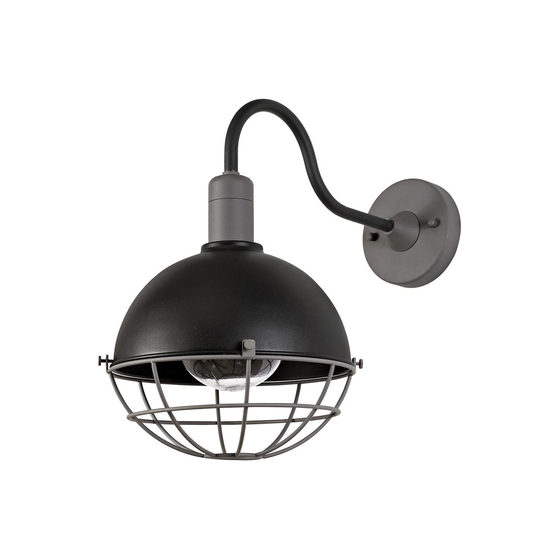 Rami Wall Lamp, 1 Light E27, IP65, Matt Black/Grey