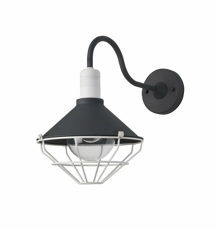 Danica Wall Lamp, 1 Light E27, IP65, Anthracite/Matt White