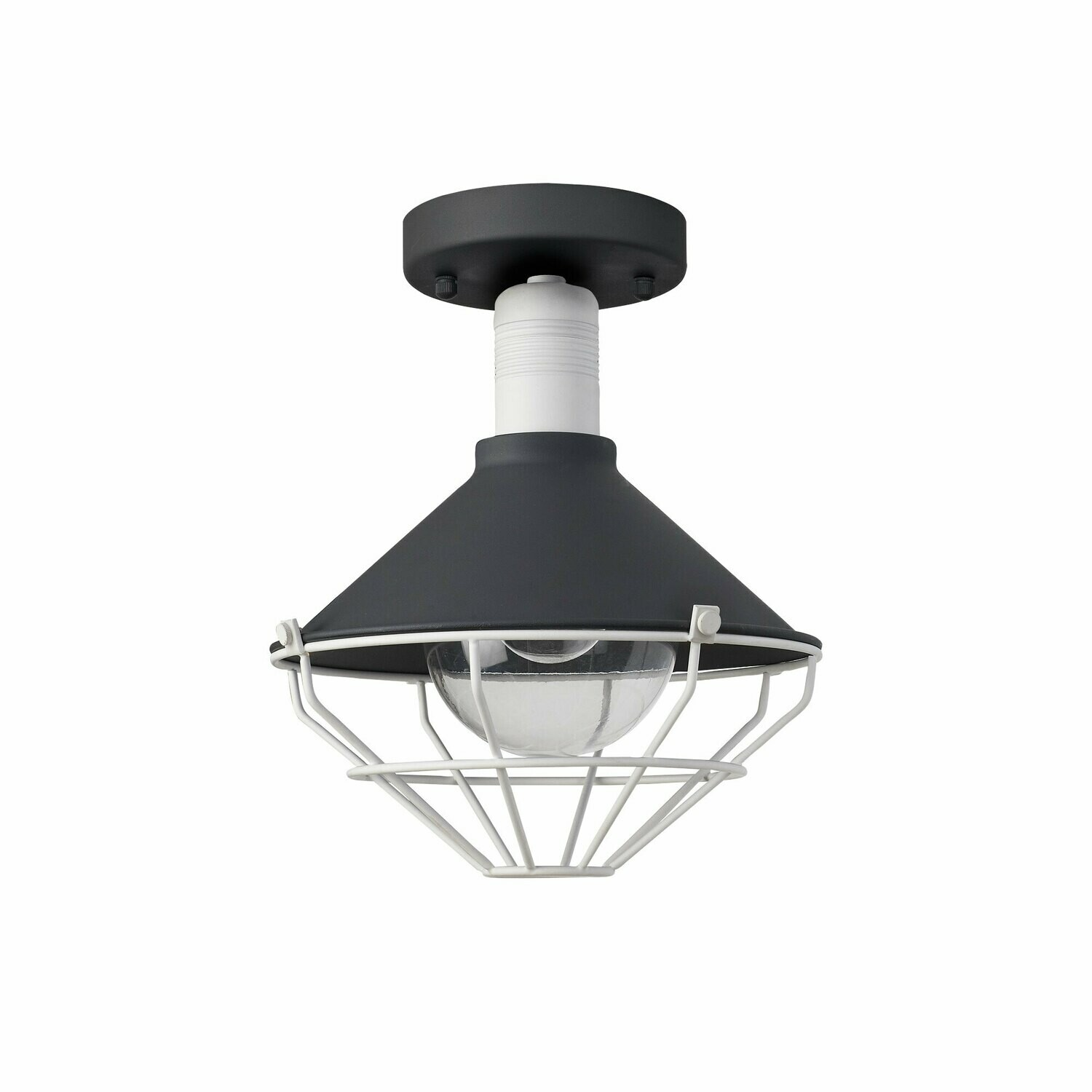 Danica Semi-Flush Ceiling, 1 Light E27, IP65, Anthracite/Matt White
