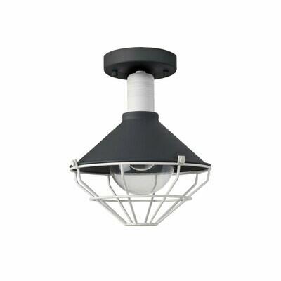 Danica Semi-Flush Ceiling, 1 Light E27, IP65, Anthracite/Matt White