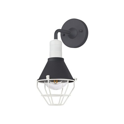 Danica Wall Lamp, 1 Light E27, IP65, Anthracite/Matt White