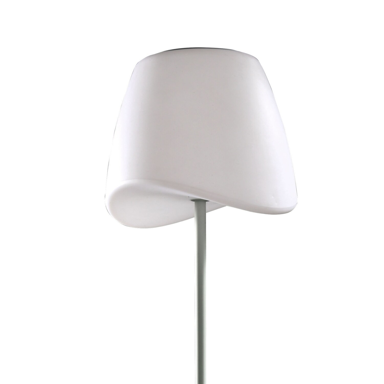 Cool Floor Lamp IP65 OUTDOOR 2 Light E27 Foot Switch, Matt White/Opal White
