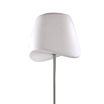 Cool Floor Lamp IP65 OUTDOOR 2 Light E27 Foot Switch, Matt White/Opal White