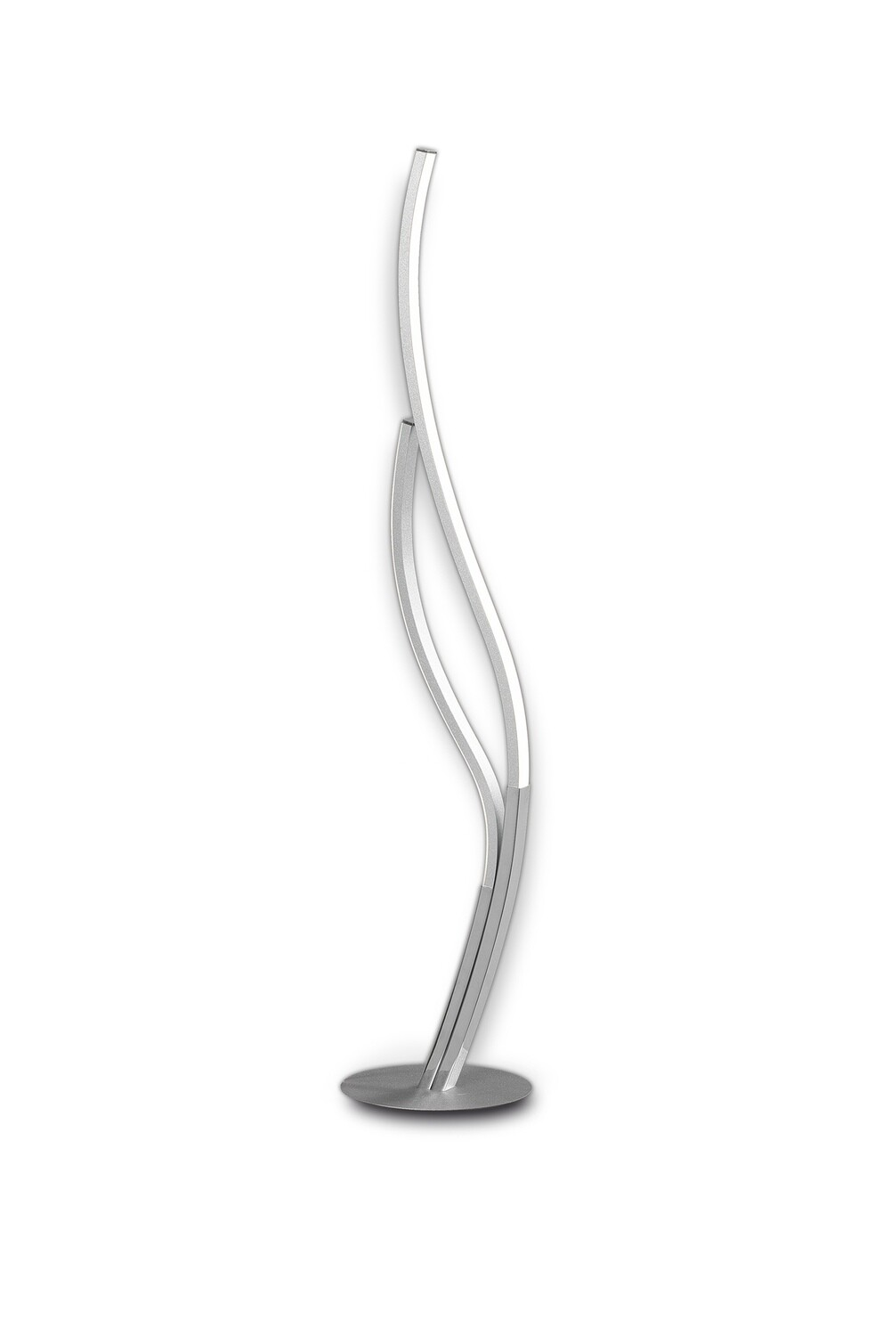 Corinto Table Lamp 84cm, 12W LED, 3000k, 960lm, Silver Chrome, Touch Dimmer