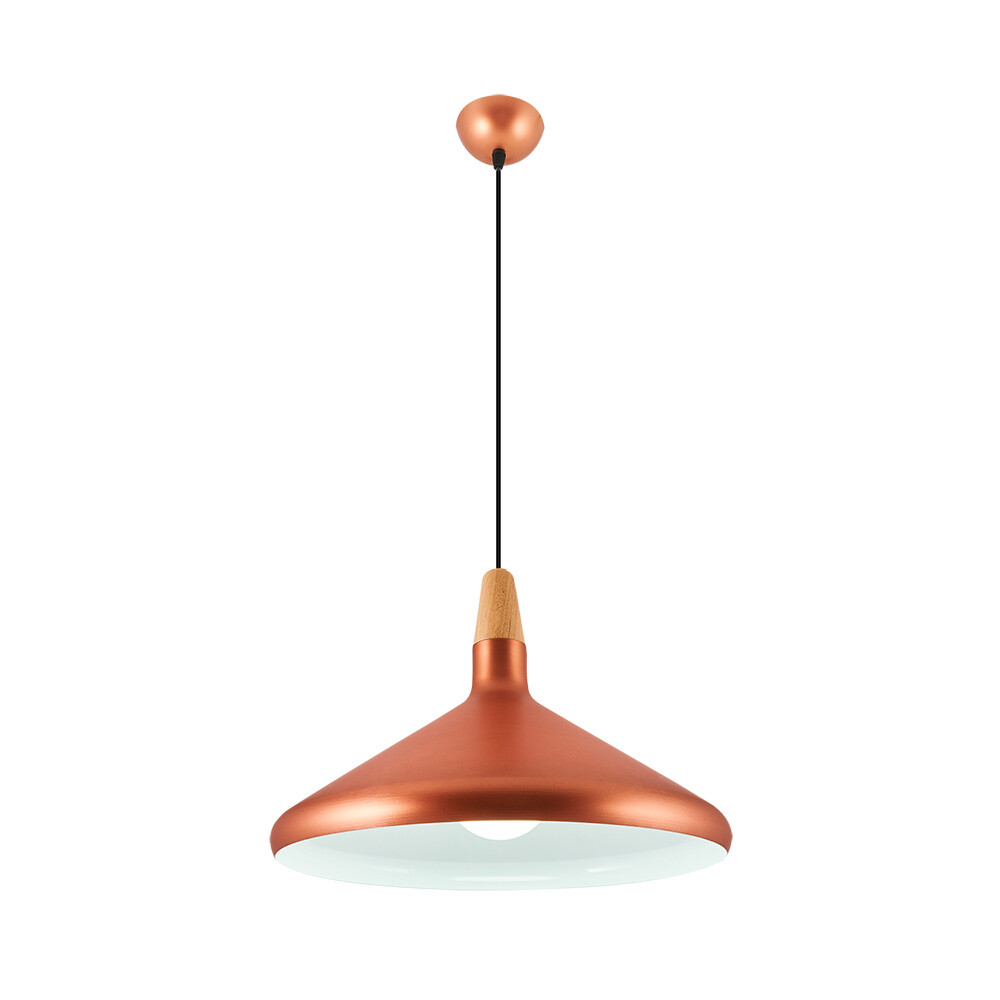 bruno L ceiling lamp 1xE27 Rose Gold