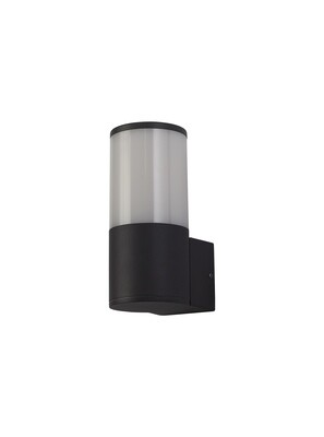 Gigil Wall Lamp 1 x E27, IP54, Anthracite/Opal