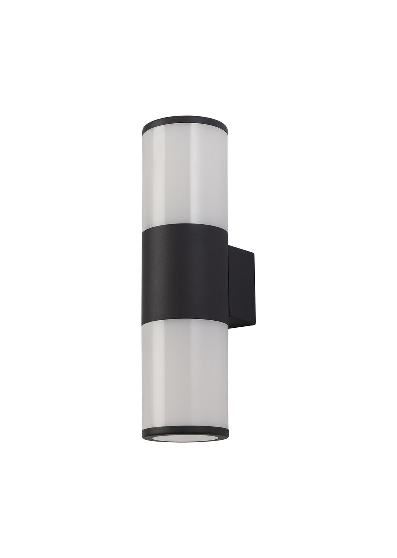 Gigil Wall Lamp 2 x E27, IP54, Anthracite/Opal