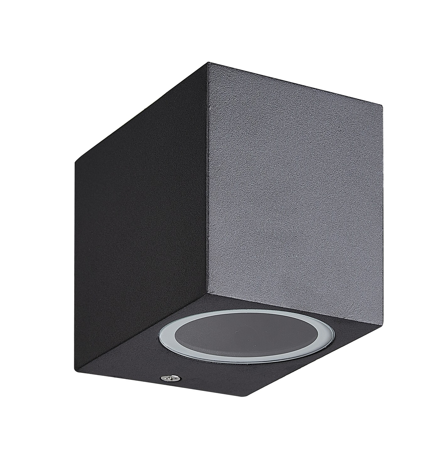 Kandanchu Square Wall Lamp, 1 x GU10, IP54 Sand Black