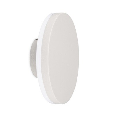 Bora Round Wall Lamp, 9.6W LED, 3000K, 720lm, IP54, White