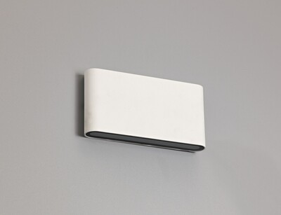 Contour L Up & Down Wall Light LED 2x6W 452lm 3000K IP54 Sand White