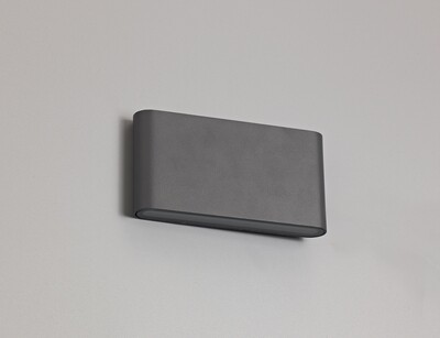 Contour L Up & Down Wall Light LED 2x6W 452lm 3000K IP54 Anthracite