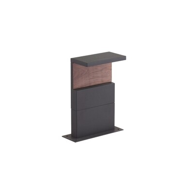 Ruka Post Lamp, 13W LED, 3000K, 850lm, IP54, Anthracite/Walnut