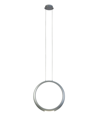 RING Pendant 50cm Round, 23W LED, 3000K, 1600lm, Silver