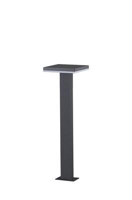 Tignes Pillar Lamp, 10W LED, 3000K, 700lm, IP54, Anthracite