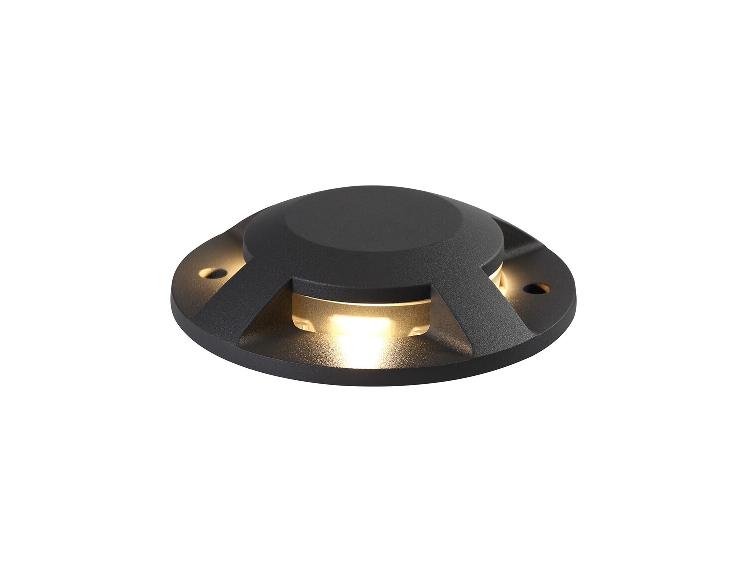Umbriel above on ground Driveover 4 Light, 4 x 3W LED, 3000K, 256lm, IP67, IK10, Anthracite