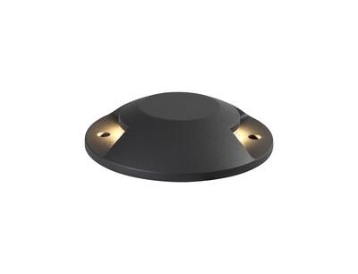 Umbriel above on ground Driveover 2 Light, 2 x 6W LED, 3000K, 256lm, IP67, IK10, Anthracite