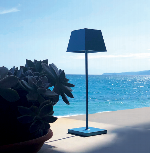 SIESTA LED table lamp blu (2700K), portable and rechargeable