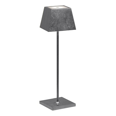 SIESTA LED table lamp silver leaf (2700K), portable and rechargeable